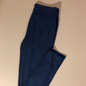 LuLaRoe Medium Blue Pull-On Leggings - One Size